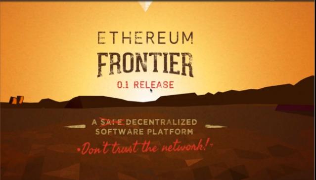 ethereum-frontier-installation