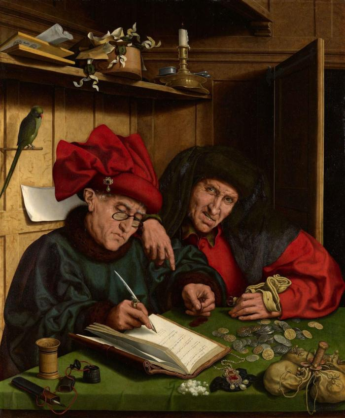 "картина Маринуса ван Роймерсвеле ""Сборщик налогов"", 1542 год."