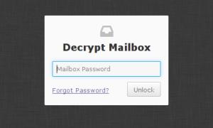 Decrypt mailbox