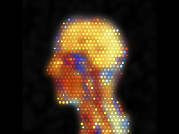 Human head MRI dot matrix, artwork