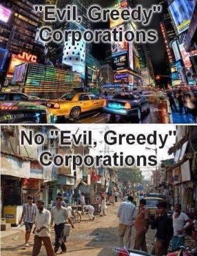 корпорации зло левые леваки социалисты противоречие магазим юмор прикол жадность эгоизм бедность нищета Гонконг трущебы индия
