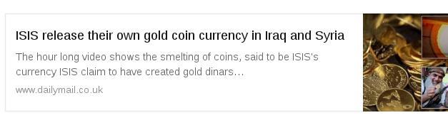 ИГИЛ выпустил собственную золотую валюту в Ираке и Сирии