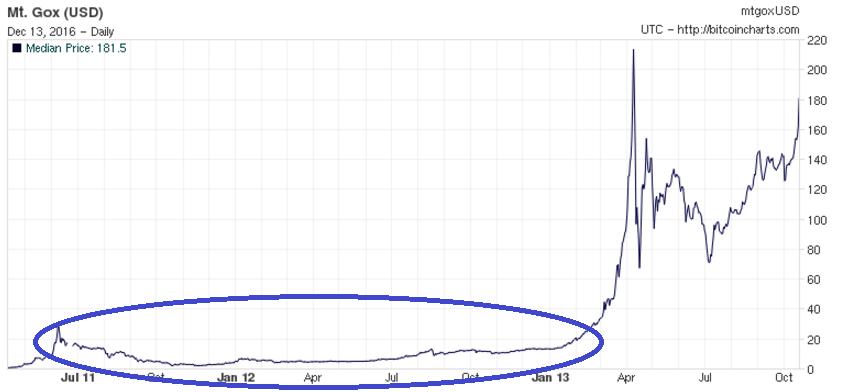 График пузыря в феврале 2013 г.